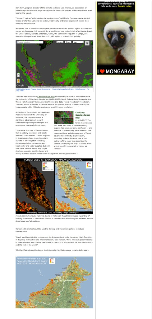Malaysia has the world's highest deforestation rate, reveals Google forest map 2