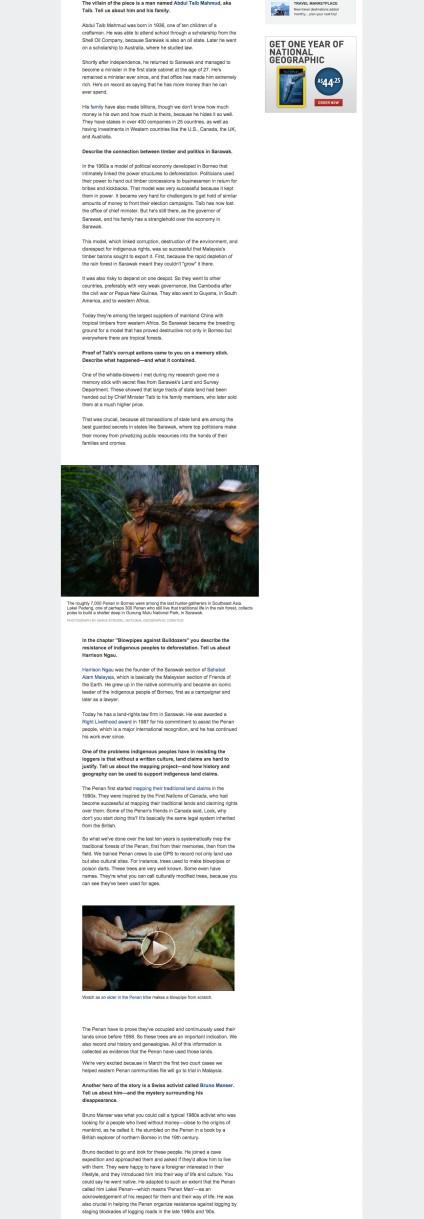 """婆羅洲原住民能否在""""當今最大的環境罪行""""中存活?2"""
