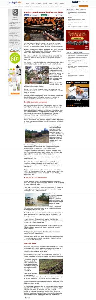 非政府組織稱:伐木導致不尋常的洪災