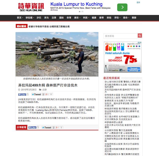 弄拉瑪起499木桐 森林部嚴打非法伐木