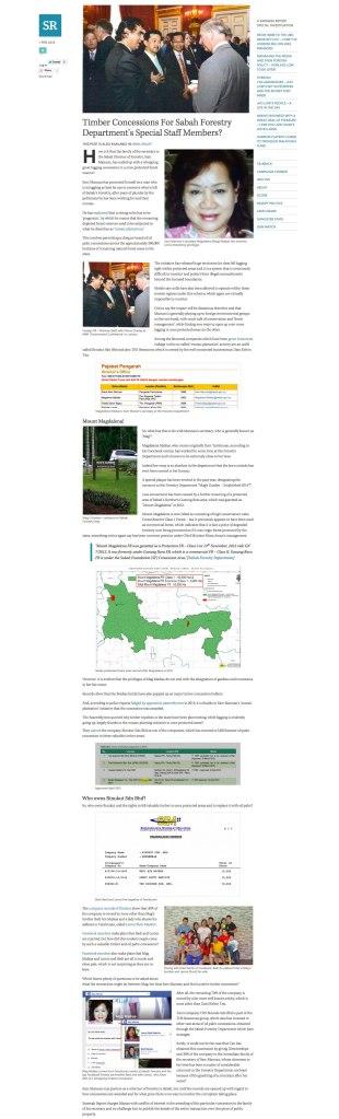 沙巴州林業部的特殊職員獲得伐木特許權?