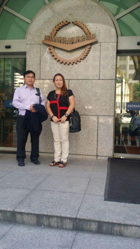 Thomas Jalong Caroline Nyurang at ADB Manila