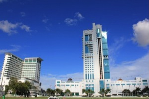 三洋大廈--砂拉越最高的建築物,使用隱瞞砂拉越關稅局的金錢興建,目前一些州政府部門在詩巫的辦公室設於這裡。