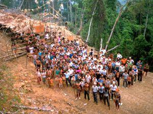 原住民起義反對在砂拉越建巨型水壩。照片來源:The Borneo Post,2012年12月。