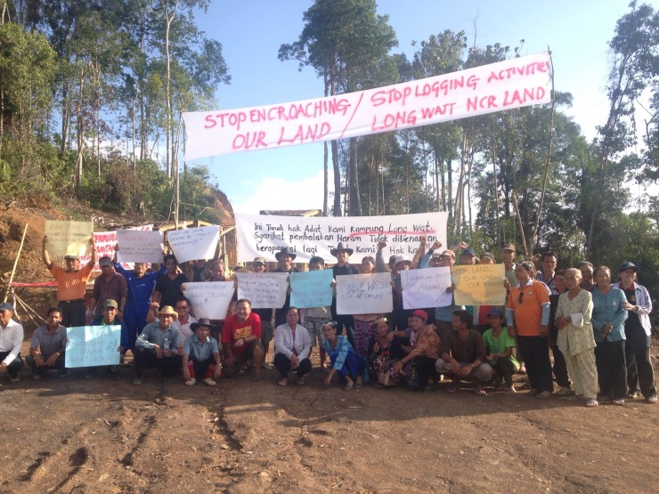 村民在路障旁設下臨時營地,日夜輪陣守著,以避免伐木公司再度闖入非法砍伐樹木。